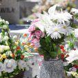 Fleurs aux obsèques de Eduardo Cruz à Madrid, le 20 juin 2015. Eduardo Cruz, le père de Penelope Cruz, Monica Cruz et Eduardo Cruz Jr est décédé le 18 juin.