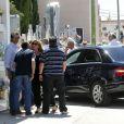Obsèques d'Eduardo Cruz à Madrid, le 20 juin 2015. Eduardo Cruz, le père de Penelope Cruz, Monica Cruz et Eduardo Cruz Jr est décédé deux jours plus tôt à 62 ans.