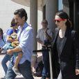 Juan Diego Botto, sa fille Salma Botto et guest - La famille et les amis d'Eduardo Cruz arrivent au funérarium de Madrid, le 19 juin 2015. Le père de Penelope et de Monica Cruz, Eduardo Cruz est décédé hier.