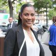 Christine Kelly lors de la cérémonie de coup d'envoi de la candidature de la France pour accueillir les Jeux olympiques de 2024 à la Maison du Sport Français à Paris le 23 juin 2015