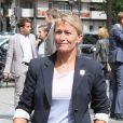Frédérique Jossinet lors de la cérémonie de coup d'envoi de la candidature de la France pour accueillir les Jeux olympiques de 2024 à la Maison du Sport Français à Paris le 23 juin 2015