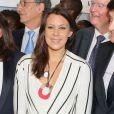 Marion Bartoli lors de la cérémonie de coup d'envoi de la candidature de la France pour accueillir les Jeux olympiques de 2024 à la Maison du Sport Français à Paris le 23 juin 2015