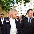 Le chanteur - et ex-membre du groupe One Direction - Zayn Malik lors du défilé Valentino (collection homme printemps-été 2016) à l'hôtel Salomon de Rothschild. Paris, le 24 juin 2015.