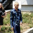Zayn Malik lors du défilé Louis Vuitton (collection homme printemps-été 2016) au Parc Andre-Citroën. Paris, le 25 juin 2015.