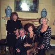 Diana Rigg, Patrick Macnee, Linda Thorson et Honor Blackman en 1993