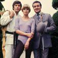 Gareth Hunt, Joanna Lumley et Patrick Macnee de Chapeau melon et bottes de cuir