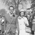 Patrick MacNee et Kate Woodville lors de leur mariage (photo d'archive)