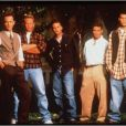 Jamie Walters entouré de Brian Austin Green, Ian Ziering, Jason Priestley, Luke Perry