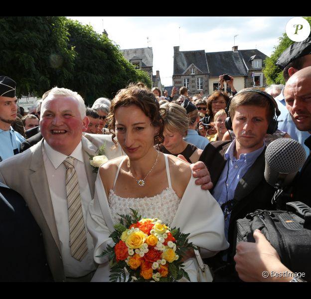 Thierry Olive et Annie se mariaient, à Gavray, en septembre 2012