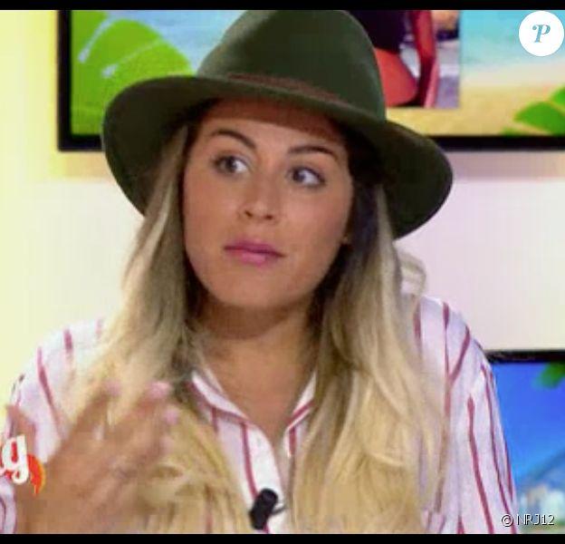 Anaïs Camizuli sur le plateau du Mag sur NRJ12, le 6 mai 2015.