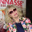 Amanda Lear au cinéma Elysées Biarritz à Paris, le 23 avril 2015.