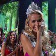 Olivia Jordan, Miss Oklahoma, remporte la couronne de Miss USA 2015 à Baton Rouge, le 12 juillet 2015.