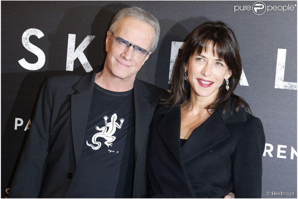 Christopher Lambert, Sophie Marceau à Paris le 24 octobre 2012.