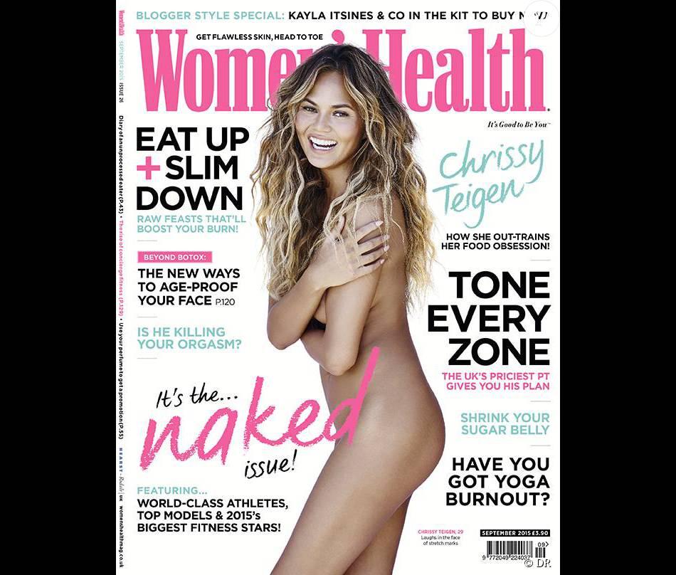 Chrissy Teigen photographiée par Jon Wright pour l'édition british de Women's Health. Numéro de septembre 2015.