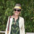 Cristina Cordula dans le village lors du tournoi de tennis de Roland Garros à Paris le 3 juin 2015.