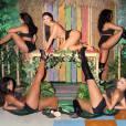 """Le musée Madame Tussauds de Las Vegas dévoile sa statut de Nicki Minaj, inspirée du clip de son tube """"Anaconda"""". Le 4 août 2015."""
