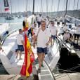 Le roi Felipe VI d'Espagne a participé à la 34e Copa del Rey le 5 août 2015 à Palma de Majorque, quelques heures avant la grande réception organisée au palais royal de la Almudaina.