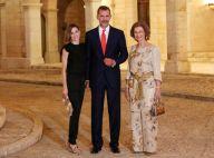 Letizia, Felipe VI et Sofia d'Espagne : Chic et radieux à la Almudaina, en fête