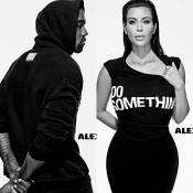 Kim Kardashian : Sexy en noir et blanc avec Kanye, Pamela Anderson et Kate Moss