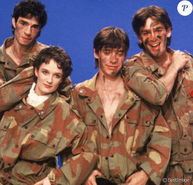 Le groupe Téléphone, composé de Jean-Louis Aubert, Louis Bertignac, Richard Kolika et Corine Marienneau, lors de l'émission Les enfants du rock le 18 juin 1982.
