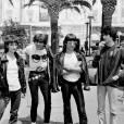 Le groupe Téléphone, composé de Jean-Louis Aubert, Louis Bertignac, Richard Kolika et Corine Marienneau, au Festival de Cannes en mai 1980.