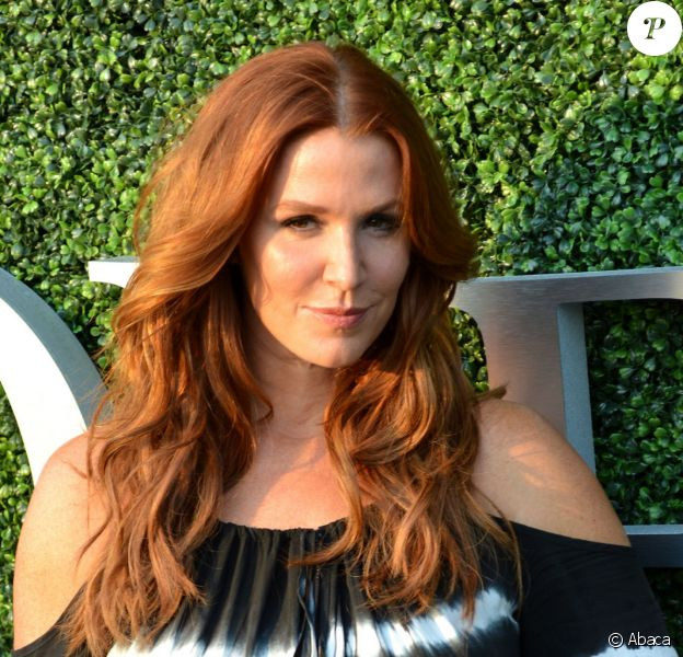 Poppy Montgomery lors de son arrivée à l'USTA Billie Jean King National Tennis Center de New York City, le 1er septembre 2015, à l'occasion de l'US Open