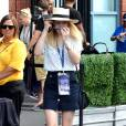 Dakota Fanning lors de son arrivée à l'USTA Billie Jean King National Tennis Center de New York City, le 1er septembre 2015, à l'occasion de l'US Open