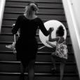 Beyoncé et sa fille Blue Ivy dans les coulisses de sa répétition pour le festival Budweiser Made in America. Photo publiée le 5 septembre 2015.