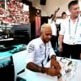 Lewis Hamilton visite le pavillon de la Malaisie à l'Exposition Universelle, à Milan. Le 7 septembre 2015.