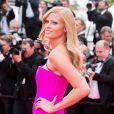 """Lara Stone (bracelet Montblanc Riviera, boucles d'oreilles Montblanc Bouquet) - Montée des marches du film """"The Search"""" lors du 67 ème Festival du film de Cannes – Cannes le 21 mai 2014."""