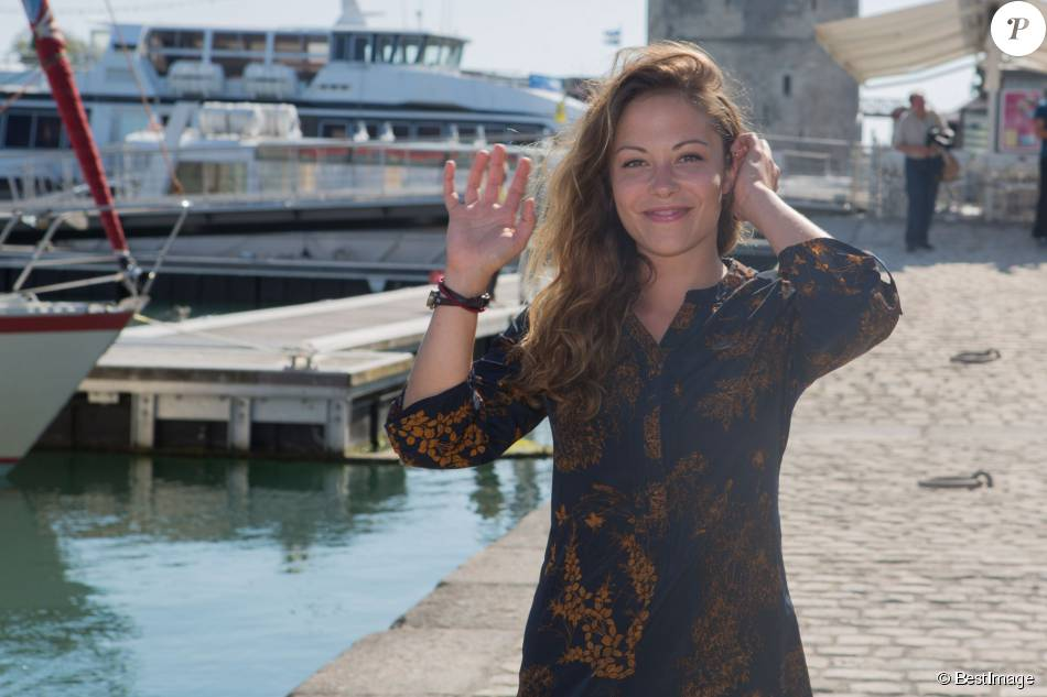 Dounia Coesens, au 17e festival de fiction TV de La Rochelle, le 10 septembre 2015.