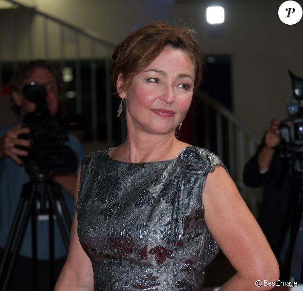 """Catherine Frot - Tapis rouge du film """"Marguerite"""" lors du 72e festival du film de Venise (la Mostra), le 5 septembre 2015"""