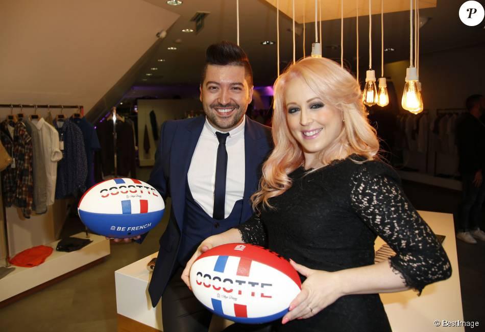 Exclusif - Chris Marques et sa fiancée Jaclyn Spencer - Soirée de lancement de la collection Cocotte de Serge Blanco au showroom Serge Blanco à Paris, le 16 septembre 2015, en présence d'Elsa Lauby, directrice générale de Serge Blanco.