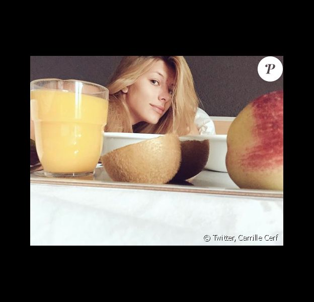 Camille Cerf sans maquillage, le 19 septemnre 2015.