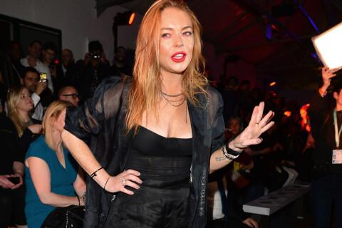Lindsay Lohan : Plus rock et débraillée que glamour à la Fashion Week