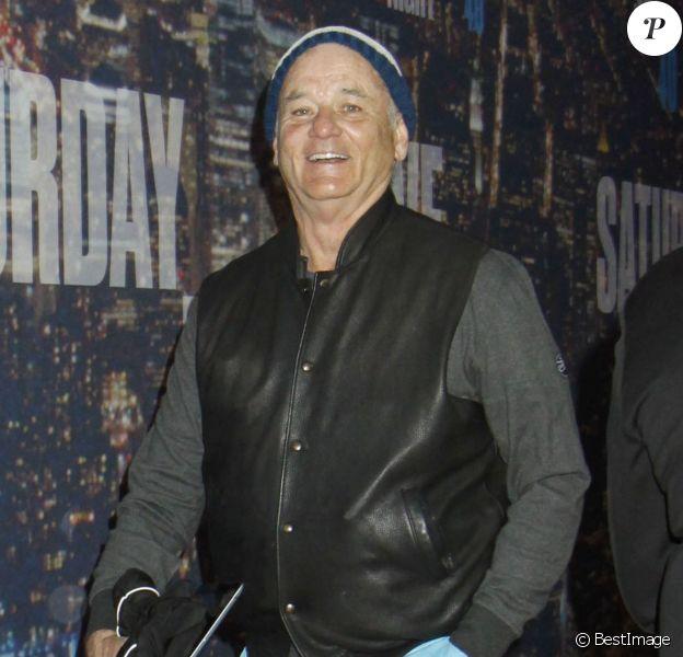 Bill Murray arrivant au gala d'anniversaire des 40 ans de Saturday Night Live (SNL) à New York. Le 15 février 2015
