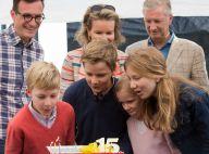 Philippe et Mathilde de Belgique: Dimanche en famille sportif avec leurs enfants