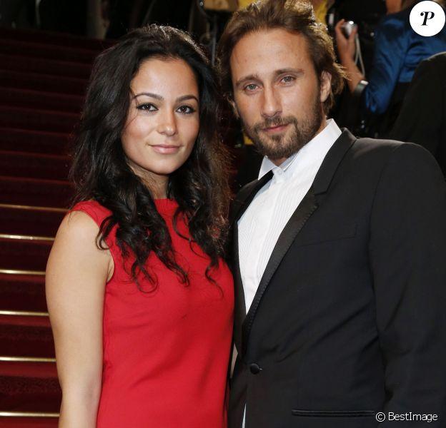 Matthias Schoenaerts et sa compagne Alexandra à Paris le 22 février 2013.