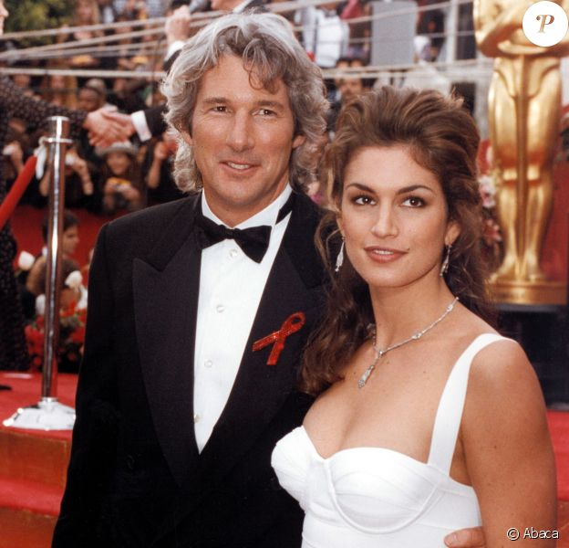 Richard Gere et son épouse à l'époque Cindy Crawford en 1993