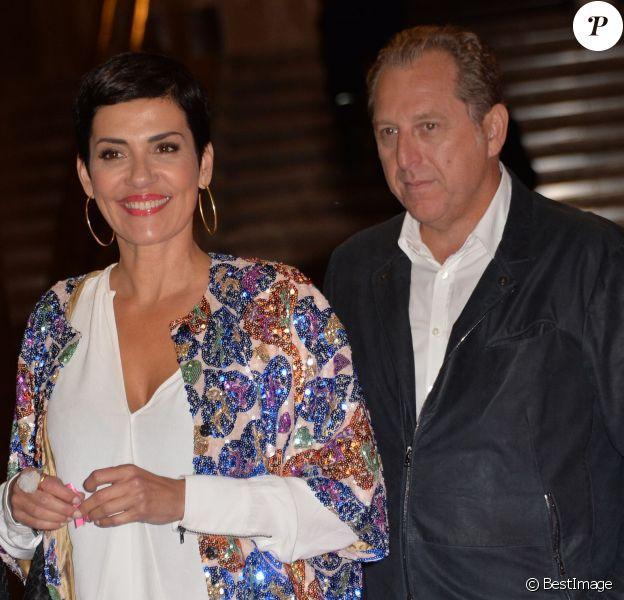 Cristina Cordula et son compagnon - Soirée de lancement d'Octobre Rose (le mois de lutte contre le cancer du sein) au Palais Chaillot à Paris le 28 septembre 2015