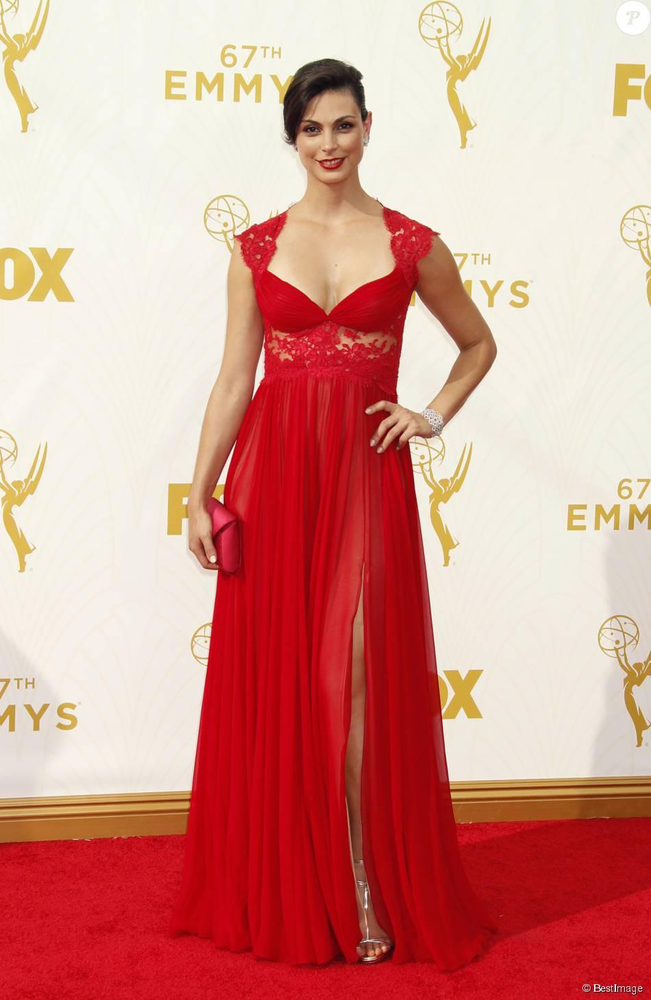Morena Baccarin - Photocall des 67ème Emmy Awards au Théatre Microsoft de Los Angeles le 20 septembre 2015.