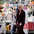 Lady Gaga sur le tournage de 'American Horror Story: Hotel' à Los Angeles, le 9 septembre 2015
