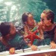 Derniers jours de vacances à Saint-Barthélemy pour Jade, Joy et Laeticia Hallyday, septembre 2015.