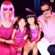 Laeticia et Johnny Hallyday ont organisé une Pink Party pour l'anniversaire de Jade et Joy à Saint-Barthélemy, août 2015.