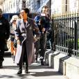 Kris Jenner et Corey Gamble sur l'avenue Montaigne à Paris, le 1er octobre 2015.