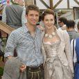 Thomas Müller et sa femme Lisa à Munich pour fêter l'Oktoberfest en famille le 5 octobre 2014