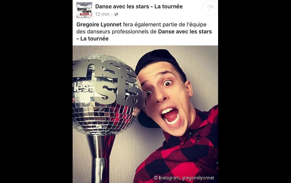 Grégoire Lyonnet annonce qu'il fera partie de la tournée  Danse avec les stars 6 . Octobre 2015.