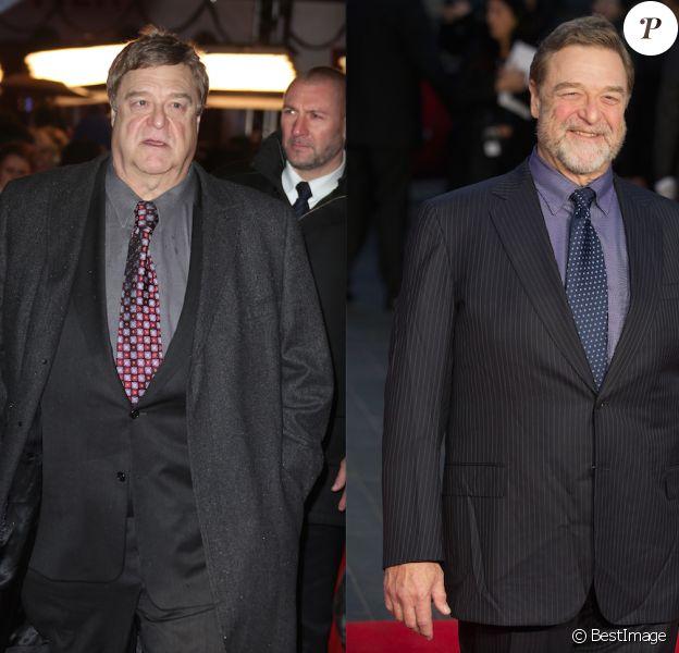 John Goodman en 2014 puis en 2015 : il a perdu visiblement beaucoup de poids !