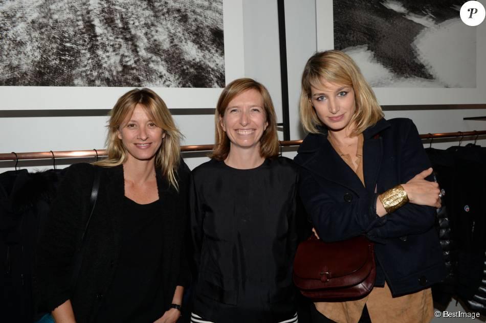 Exclusif - Sarah Lavoine, Sophie Lacoste et Pauline Lefèvre - Soirée d'ouverture de la boutique Fusalp au 8 rue des Blancs Manteaux à Paris le 6 octobre 2015.