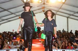 Alizée : Premier défilé de mode avec sa petite Annily...